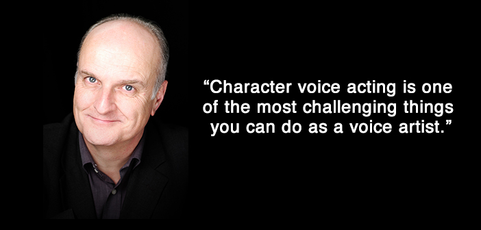 character voice acting, peter dickson