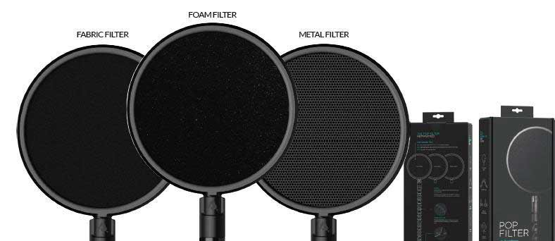voice over equipment pop shields
