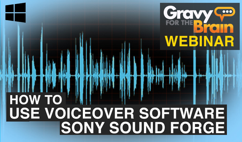 How to use voiceover software - sony soundforge PC version