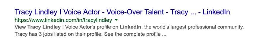 how to get voice over work using linkedin