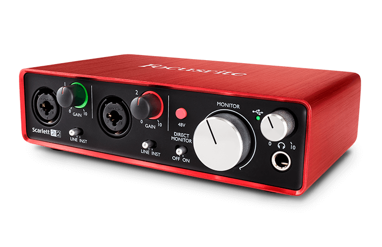 How To Choose The Best Audio Interface As A Voiceover focusrite scarlett 212