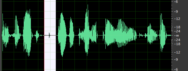 Dialogue Waveform Raw with No Edits but with Mouth Clicks